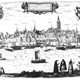 Panorama uitzicht op Nijmegen, Nederland ca. 1541 © Frans Hogenberg, in: Civitates orbis terrarum - Braun en Hogenberg