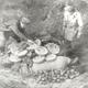 Duitse krijgsgevangenen bij het ruimen van munitie vlak na de oorlog