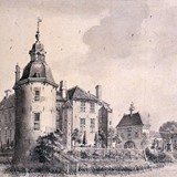 Kasteel Hackfort te Vorden in 1743 © RKD, Jan de Beijer PD