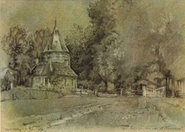 't Pad door 't weiland naar Huis de Kemnade, door W.G. Hofker. Collectie MuseaZutphen