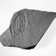 Fragment van een Romeinse dakpan of tegel van baksteen met een schoenafdruk erin, gevonden in Berg en Dal © Collectie Gelderland Rijksmuseum voor Oudheden