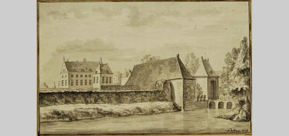 Huis Dorth in 1726 door Abraham de Haen