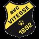 Het logo van Vitesse in de jaren '70 van de vorige eeuw