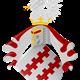 Het wapen van de familie van Arkel en het Land van Arkel © PD