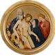 La Grande Pietà ronde, Johan Maelwael. (Nijmegen, c. 1370 – Dijon, 1415), c. 1400, Musée du Louvre.