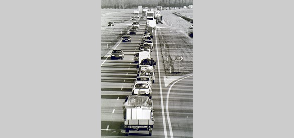 Evacuatie in 1995.  Foto: Fotopersburo William Hoogteyling, Buren