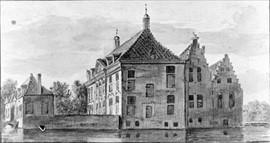 Pentekening Huis te Leeuwen Bron Regionaal Archief Nijmegen
