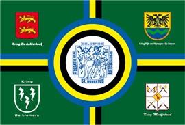 Vlag van de Federatie Gelderse Schuttersgilden en Schutterijen St. Hubertus