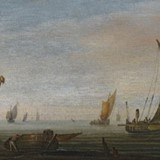 Abraham de Verwer: Vessels on the Zuider Zee