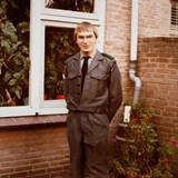Henny Kers in zijn kersverse BB-uniform in 1970 © privé-collectie Henny Kers