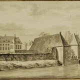 Huis Dorth in 1726 door Abraham de Haen © Wikimedia - PD