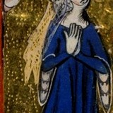 Miniatuur van Eleanora van Engeland / Alianora van Woodstock © Book of Hours, Use of Sarum PD